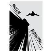 черный и белый фон с самолета — Cтоковый вектор