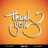Lettering THANK YOU. Vector illustration. — Vector de stock
