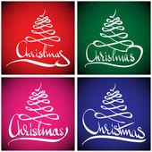 Christmas wenskaart. hand belettering — Stockvector