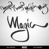 Lettering magic. For themes. Vector illustration. — Vettoriale Stock