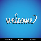 Lettering WELCOME. Vector illustration. — ストックベクタ
