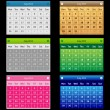 Set Vector Calendar — Stock Vector