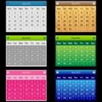 Set Vector Calendar — Stock Vector