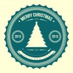 Christmas tree applique vector background. — Stock Vector