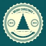 Christmas tree applique vector background. — Stock Vector #15274459