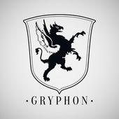Heraldic griffin. — Stock Vector
