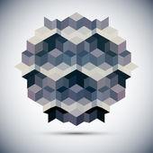 六角形万花筒光学幻觉 — 图库矢量图片
