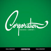 CORPORATION Vector Lettering. — Stock Vector