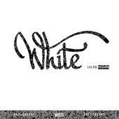 'WHITE' hand lettering, vector — Stock Vector
