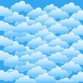 Blue sky with clouds. Vector background. — Stock Vector