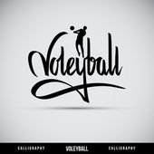 Voleyball hand lettering - handmade calligraphy — Stock Vector