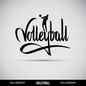 Volleyball hand lettering - handmade calligraphy — Stock Vector