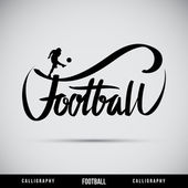 Football hand lettering - handmade calligraphy — Stock Vector