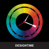 Time for design concept clock — Vector de stock