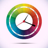 Time for design concept clock — Stock Vector