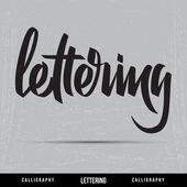 Lettering Calligrapgy — Stock Vector