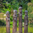 Stock Photo: Wood carvings of primitive various Africmen