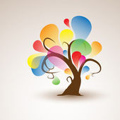 Funny Abstract Tree Sticker Wall Decal for your design — Stock Vector