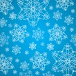 Winter blue and white christmas background texture with snowflakes — Stock Vector