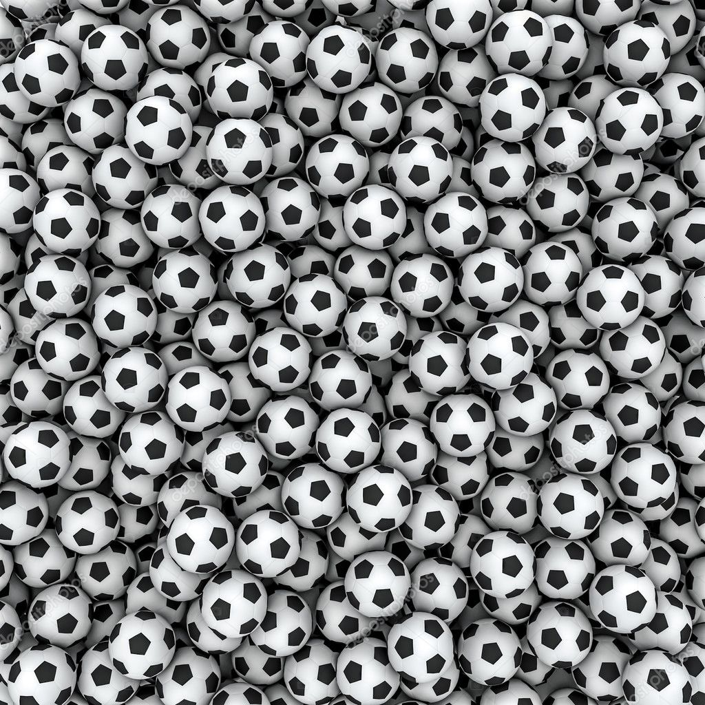 Soccer balls background — Stock Photo © grandeduc #13034038
