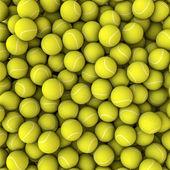 Tenisové míčky pozadí — Stock fotografie