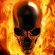 Fire skull — Stock Photo
