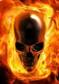 Yangın kafatası — Stok fotoğraf
