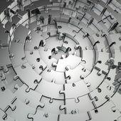 Metalen puzzel achtergrond — Stockfoto