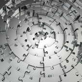 Metall puzzle-hintergrund — Stockfoto