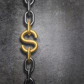 Dólar de ligação de cadeia — Foto Stock