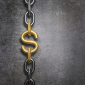 Chain link dollar — Stock Photo