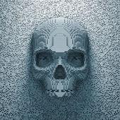 Cranio di pixel — Foto Stock