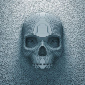 Pixel skull — Stock Photo