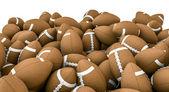 American footballs pile — Stock Photo
