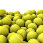 Постер, плакат: Tennis balls pile