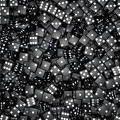 Black dice background — Zdjęcie stockowe
