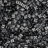 Zwarte dobbelstenen achtergrond — Stockfoto