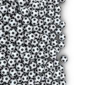 Derrame de balones de fútbol — Foto de Stock