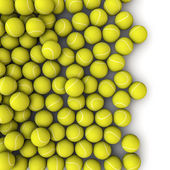 Tennis balls spill — Stock Photo