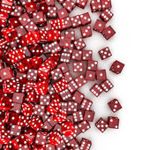 Red dice spill — Stock Photo