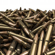 Rifle bullets pile — Stock Photo