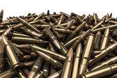 Rifle bullets pile — Stock Photo