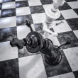 Stock Photo: Checkmate knockout white