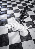 Checkmate knockout black — Stock Photo