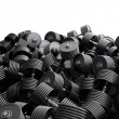 Stock Photo: Dumbbell pile