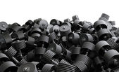 Dumbbell pile — Stock Photo