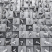 Parete delle mani — Foto Stock