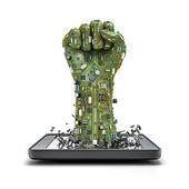 Data fist tablet — Stock Photo