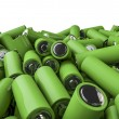 Stock Photo: Battery pile