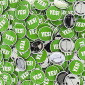 Yes badges — Stock Photo